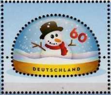 2014 Germany - Christmas - Snowman / Weihnacht Schneeman - Odd Size Stamp - Block Of 4 V Paper - MNH** MiNr. 3111 - Nuovi