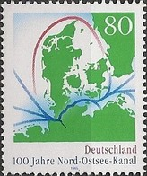 GERMANY (BRD) - CENTENARY OF KIEL CANAL 1995 - MNH - Unused Stamps