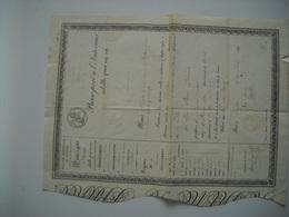 924 PASSEPORT à L'intérieur POLICE GÉNÉRALE DU ROYAUME SEYSSES MURET RIBAIRE  VIEILLE ROUX 14 Mai  1841 - Documents Historiques