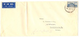 """Indien 1951, Luftpost Nach Deutschland, 12 Annas """"Golden Temple, Amristar"""" (1949) - Storia Postale"""