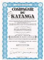 Titre Ancien - Compagnie Du Katanga - Sté Congolaise Par Actions à Responsabilité Limitée - Titre De 1958 - - Afrique