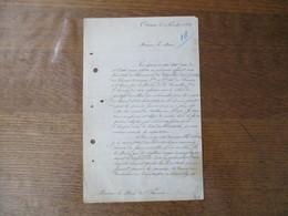 AVESNES LE 2 NOVEMBRE 1863 COURRIER DE L'AGENT VOYER SIGNE RINGUET AU MAIRE DE FOURMIES - Manuscrits