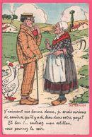 Cp Système 10 Vues - Leporello - Dijon - Paysan - Oie - Gauloiserie Grivoise - Illustration GAILLARD - Edit. D. DELBOY - Dijon