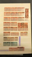GREAT BRITAIN- NICE PAIRS PENNY RED COLLECTION + PENCE BLUE - Great Britain