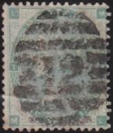 Great Britain  .  Yvert .  24 . (1862) Fleurs Heraldiques  . ( 2 Scans)  .   O   .    Cancelled .   /   .   Gebruikt - Usados