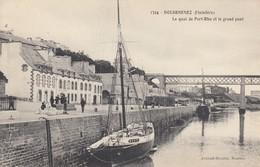 DOUARNENEZ (Finistère): Le Quai De Port-Rhu Er Le Grand Pont - Douarnenez