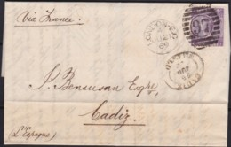 Great Britain  . Yvert  .   34 On Letter  (2 Scans)      .  O  .   Cancelled      .   /  .   Gebruikt - 1840-1901 (Victoria)
