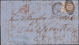 Great Britain  . Yvert  .  47   On Letter  (2 Scans)      .  O  .   Cancelled      .   /  .   Gebruikt - 1840-1901 (Victoria)