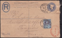 Great Britain  . Yvert  .      Letter .    (2 Scans)        .  O  .   Cancelled      .   /  .   Gebruikt - Storia Postale
