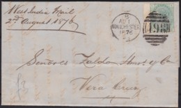 Great Britain  . Yvert  .    53  On  Letter .    (2 Scans)    .  O  .   Cancelled      .   /  .   Gebruikt - 1840-1901 (Victoria)