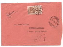 Italia - Busta Viaggiata Da Piacenza A Correggio (RE) Per Espresso - 1954 - 6. 1946-.. Repubblica