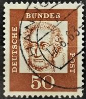 1961 Johann Wolfgang Von Goethe Gestempelt MiNr: 356y - [7] République Fédérale