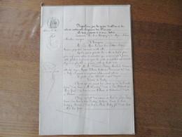 VIESLY LE 11 MAI 1864 BAIL PAR M. PIETTRE NOTAIRE HONORAIRE A M.M.FERDINAND BERSEZ MARCHAND BRASSEUR ET CULTIVATEUR ET V - Manuscrits