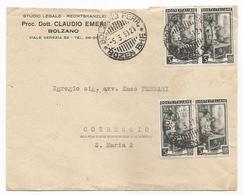 Italia - Busta Viaggiata Da Bolzano A Correggio (RE)  - 1951 - 6. 1946-.. Repubblica
