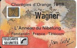 CARTE-PUBLIC-F23A-50U-SC4 On-1988-WAGNER-V°N°6Pe 102892-UTILISE-TBE LUXE - France