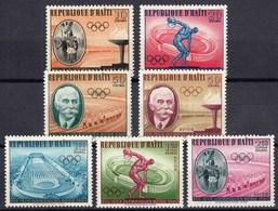 Haiti / Olympic Games Rome 1960 / Flam, Flag, Pierre De Coubertin, Discus, Stadium / Mi 629-635 - Verano 1960: Roma