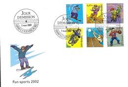 Luxembourg  -   FDC  -  5.mars 2002  -  Fun Sport 2002 - FDC