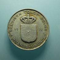 Belgian Congo 1 Franc 1958 - 1951-1960: Baudouin I