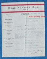 Document Ancien - CASABLANCA - Maison René AYASSE Fils - Juif Marocain ?- Import Export Bois Durs Tendres Coloniaux 1945 - Factures & Documents Commerciaux