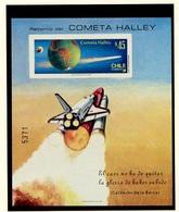 Espace 1985 Chili - Chile Y&T N°BF(1a) - Michel N°B1B *** - 45p Comète De Halley - Non Dentelé - South America