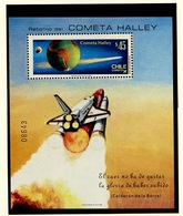 Espace 1985 Chili - Chile Y&T N°BF(1) - Michel N°B1A *** - 45p Comète De Halley - Non Dentelé - South America