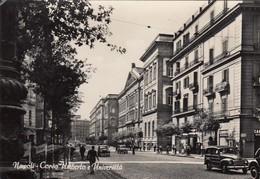 NAPOLI-CORSO UMBERTO E UNIVERSITA-BELLA ANIMAZIONE-CARTOLINA VERA FOTOGRAFIA VIAGGIATA IL 19-8-1958 - Napoli (Naples)