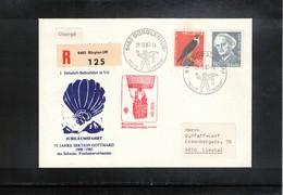 Schweiz / Switzerland 1983 Jubilaeumsfahrt 75 Jahre Sektion Gotthard Ballonpost - Suisse