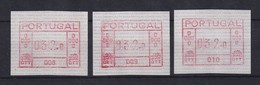 Portugal Frama-ATM Aut.-Nr. 008, 009 Und 010 Je Wert 032,0 Postfrisch ** - ATM/Frama Labels