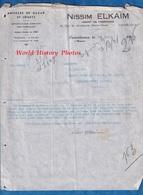 Document Ancien - CASABLANCA - Maison Nissim ELKAÏM - Juif Marocain ?- Agent De Fabrique - Article De Bazar & Jouet - Factures & Documents Commerciaux