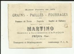 83 - Var - Frèjus - Carte Lettre- Martino - Grains - Paille - 2 Volets - - Frejus