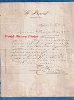 Document Ancien - 1891 - ALGER - Maison H. PICARD - Juif Algérien ?- Coutier En Vins - Algérie - Factures & Documents Commerciaux