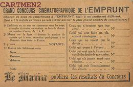 GRAND CONCOURS CINEMATOGRAPHIQUE DE L'EMPRUNT JOURNAL LE MATIN PARIS PUBLICITE PRESSE CINEMA - Advertising