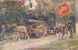 ATTELAGE DE CHIEN MITRAILLEUSES BELGES GUERRE ARTILLERIE - Guerra 1914-18