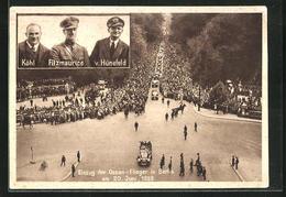 AK Berlin, Einzug Der Ozean-Flieger Köhl, Fitzmaurice Und V. Hünefeld In Die Stadt, 20.6.1928 - Unclassified