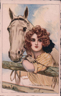 Corbella T. Illustrateur, Jeune Femme Et Cheval (5323) - Corbella, T.