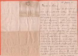 Luogotenenza - 12 Giugno 1944 - Lettera Privata Con Timbro Di Censura? E Annotazioni Destinazione - Senza Busta - 5. 1944-46 Lieutenance & Umberto II