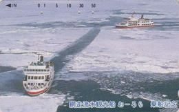 TC JAPON / 110-016 - BATEAU BRISE GLACE - ICE BREAKER SHIP JAPAN Phonecard - EISBRECHER SCHIFF - 311 - Boats