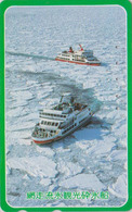TC JAPON / 110-016 - BATEAU BRISE GLACE - ICE BREAKER SHIP JAPAN Phonecard - EISBRECHER SCHIFF - 318 - Boats