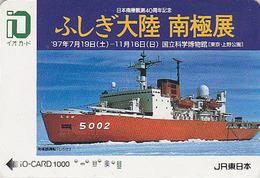 Carte Prépayée JAPON - BATEAU BRISE GLACE - ICE BREAKER SHIP JAPAN JR IO Card - EISBRECHER SCHIFF - 319 - Boats