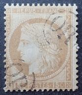 """R1512/22 - CERES N°55 (pelurage)  Avec Double Oblitération """" OR """" Dans Un Cercle (ORIGINE RURALE) - 1871-1875 Ceres"""