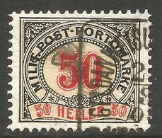 AUSTRIA / BOSNIA. 50h POSTAGE DUE USED GELD CANCEL. - Postage Due