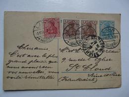 CPA   ALLEMAGNE - BADEN : Timbres 5,30 Et 40 Deutsches Reich - Allemagne