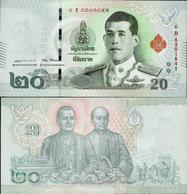 Thailand 2018 - 20 Baht King Rama X - Pick New UNC - Thailand