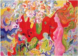 ZELING: Symphonie Du Printemps [ Nu Femme Nude CPM Chinoise ] FI028 - Schilderijen
