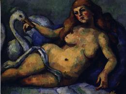 CEZANNE: Léda Et Le Cygne [ Nu Femme Nude CPM Américaine ] FI034 - Schilderijen