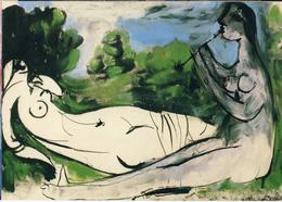 PICASSO: Nu Couché Et La Joueuse De Flute [ Nu Femme Nude CPM Allemande ] FI035 - Schilderijen