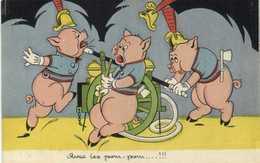 Illustrateur Les Cochons De Willy  Pompiers Avec Les Pom Plom ....!!! RV - Pigs
