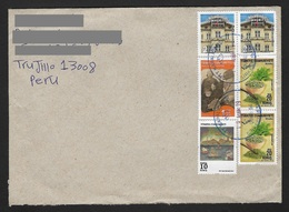 Turkey Cover With Recetn Art , Mentha Spices ,  Houses , Life Of Atatürk Stamps Sent To Peru - 1921-... Republiek