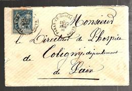 29044 - Ambulant PARAY LE MONIAL A MACON - Marcophilie (Lettres)