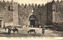 Jerusalem Porte De Damas RV  Beau Timbre 7 Seven Millieme - Israel